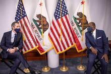 Governor Newsom and Martin Jenkins